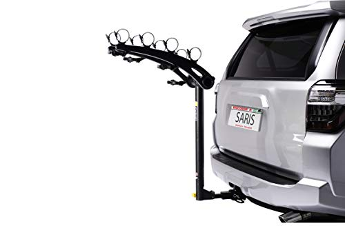 Saris Bones Hitch Bike Rack Carrier, Mount 4 Bikes, Black