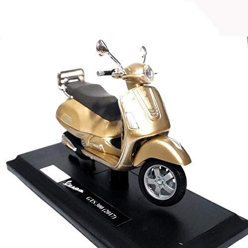 SSBH 01.18 GTS 300 (2017) Scooter Gold-Diecast Alloy Motorrad-Modell-Spielzeug for Kinder Erwachsene Geburtstag Hauptdekoration verziert Sammlung Fotografie Props