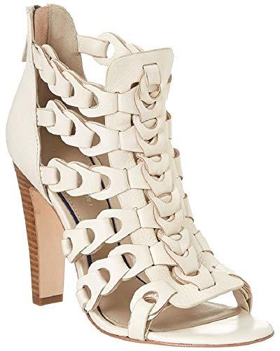 Elie Tahari Intreccio White Sandals (37.5)