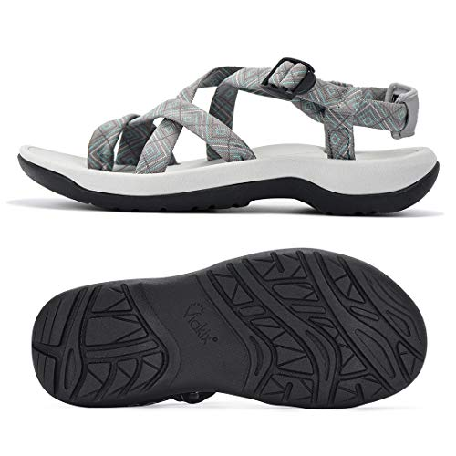 Viakix Walking Sandals for Women – Ultra Comfortable Athletic Sandals with Arch...