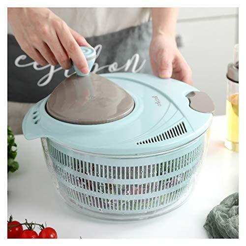 TIM-LI Salatschleuder - Großer Obst- Und Gemüsetrockner Schnelltrocknendes, BPA-Freies Gemüse Mit Leichtigkeit Für Schmackhaftere Salate Und Schnellere Lebensmittelzubereitung,L