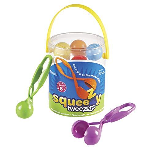 Learning Resources- Pinzas Squeezy Tweezers, Color (LER5963)