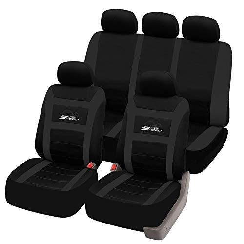 eSituro universal Sitzbezüge für Auto Schonbezug Komplettset schwarz SCSC0094