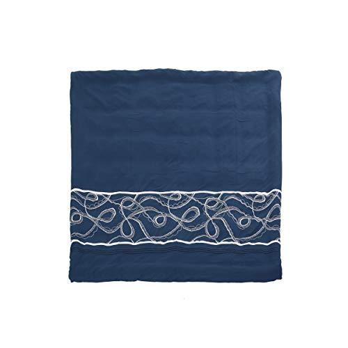 Christopher Knight Home 309151 Charli Queen Size Fabric Duvet, Navy