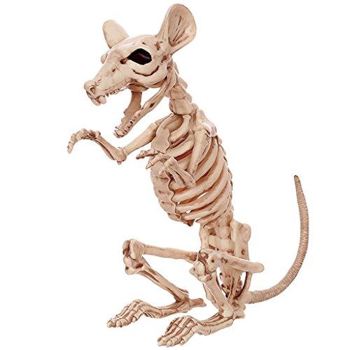 Hmy Adornos de Halloween, apoyos de Barra de la casa encantada, Persona Entera Divertida Horrible, Esqueleto de Rata simulado, Esqueleto de Animal