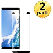 Galaxy Note 8 Black Screen Protector,Case Friendly/Scratch Resistant/9H Hardness/HD Tempered Glass Film for Samsung Galaxy Note 8[2 Pack 6.3in]