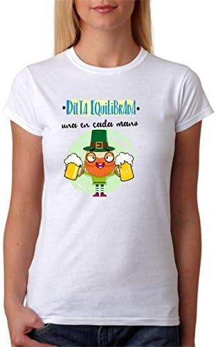 Camiseta Dieta Equilibrada una Cerveza en Cada Mano