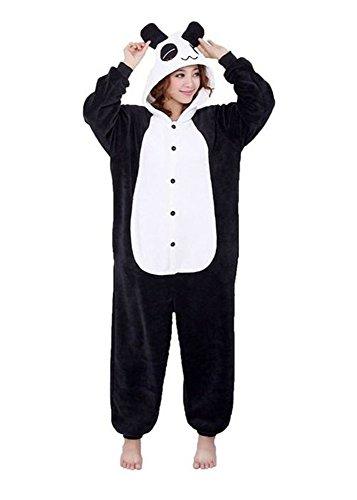 Pijamas Disfraces Onesie Animal Adultos kigurumi Carnaval Halloween o Fiesta Espectáculo Navideño Mono Cosplay Ropa Interior de Zoológico Invierno Unisex Mujeres y Hombres - M - Panda