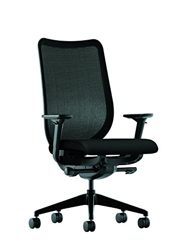 HON Nucleus Mesh Task Chair - Knit Mesh Back Computer Chair with Adjustable Arms, Black (HN1)
