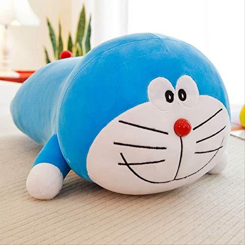 DOUFUZZ SNHPP Versión acostada de la a sueño Juguetes de Felpa Software Almohada Ding-Dong Gato máquina Gato muñeca muñeca Azul Grasa 40 cm Sonrisa