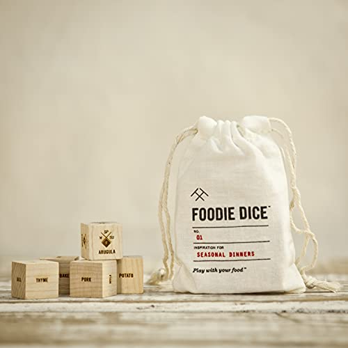 Foodie Dice® No. 1 Seasonal Dinners (pouch) // Foodie gift, cooking gift, date night activity, birthday gift