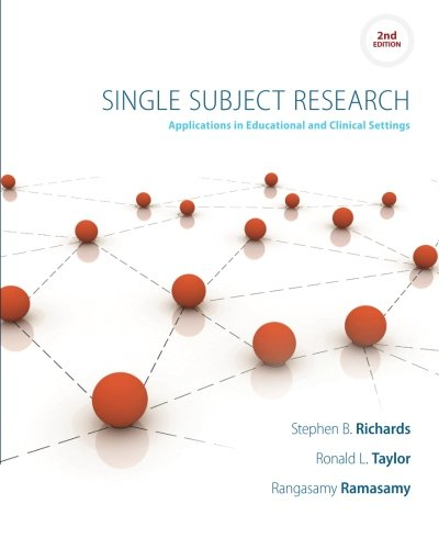 Single Subject Research: Applications in Educational and Clinical Settings