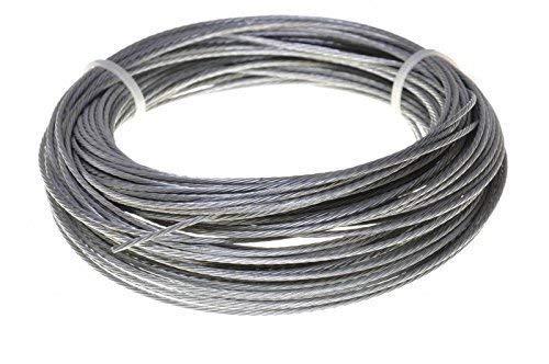 10m Drahtseil EDELSTAHL Stahlseil 5mm 7x19 Edelstahldrahtseil INOX V4A A4 rostfrei Gel/änder Seil Draht Stahl Edelstahlseil