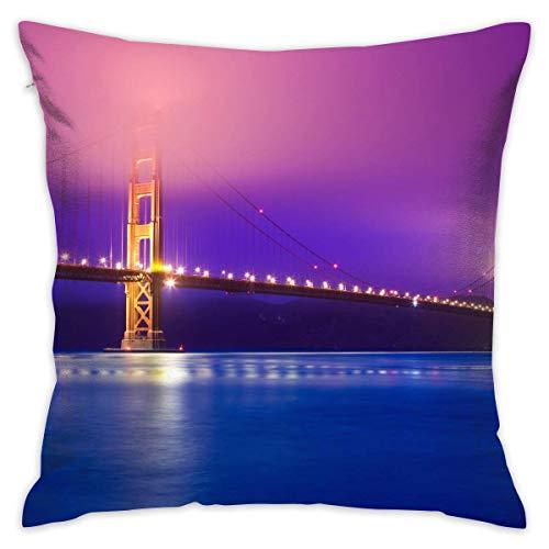 Moily Fayshow Fodera per Cuscino di tiro Golden Gate Bridge Divano per Letto Federa per Cuscino Cuscino per Dormire Cuscino Morbido 40 X 40
