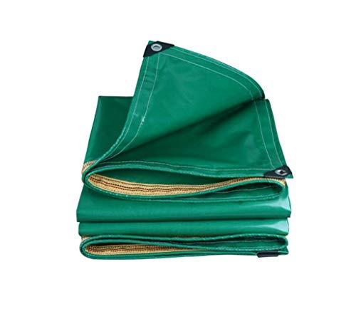 JD Bug Regendichte doek, ultra-lichte doek Regendichte doek waterdicht zonnezeil zeildoek zeildoek verdikte lampenkap canvas Oxford groen exterieur driewieler cover auto (afmetingen: 2x2.5 m)