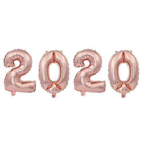 SDYPDQ Gelukkig Nieuwjaar Partij Decoratie Folie Ballonnen Glanzend Gouden Gelukkig Nieuwjaar Letter Ballonnen 16 Inch