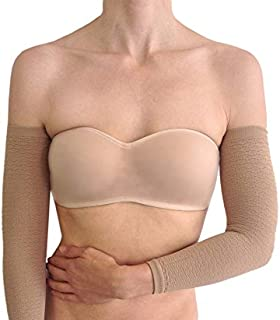 Bioflect® FIR Therapy Micromassage Anti Cellulite Compression Slimming Arm Sleeves (Beige)