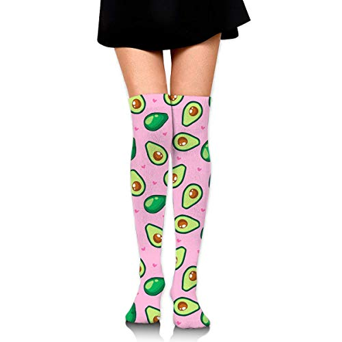 Nice-Guy Kawaii Avocado Damenmode Overknee Oberschenkel Hohe Socken Strumpf