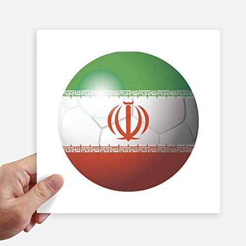 DIYthinker Iran Nationale Vlag Voetbal Vierkant Stickers 20Cm Wandkoffer Laptop Motobike Decal 4 Stks