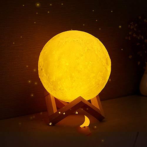 Kleines Nachtlicht, LED-Nachtlicht, Nachtlicht Tischlampe Mondform Mondlicht 3D-Druck Pat Sensor Nachttischlampe, geeignet für Nachtlicht für Säuglinge und kleine Kindergeburtstagsliebhaber