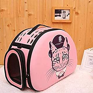 The DDS Store Printed Collapsible Travel Friendly Carrier for Cat Fashionable Travel Pet Storage Fold Able Pet Carrier Bag...