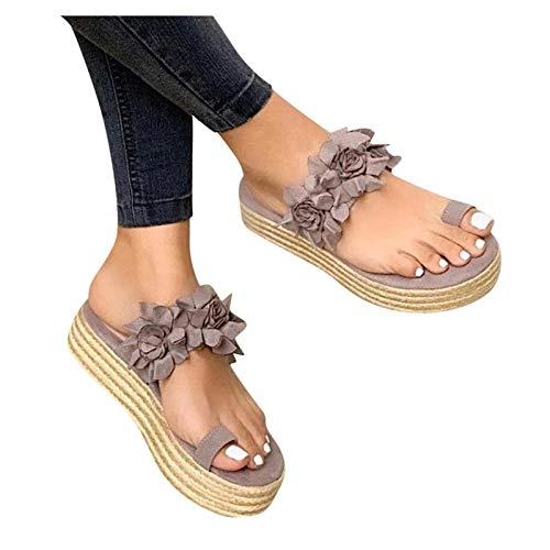 WINTOM Pantofole Donna Estive Comode Con Zeppa Ciabatte Sanitarie Sandali Infradito Donna Estivi Slippers Donna Eleganti Sandali Donna Estivi Eleganti