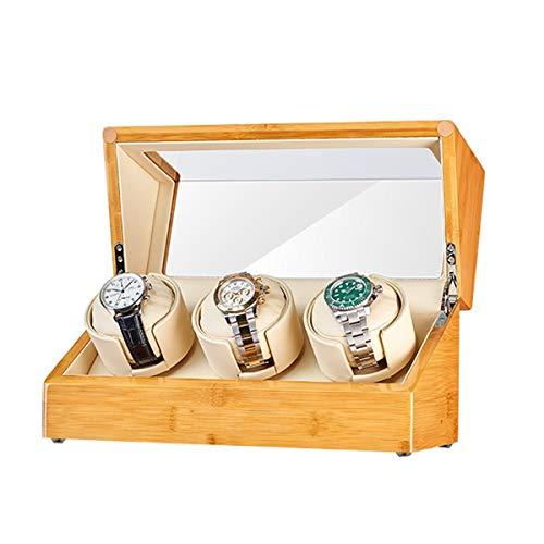 Hohe Qualität Hölzern 3+0 Automatisch Uhrenbeweger Box, Leiser Motor, Sanft Beobachten Sie Kissen, 5 Modus, Uhr Aufbewahrungsbox