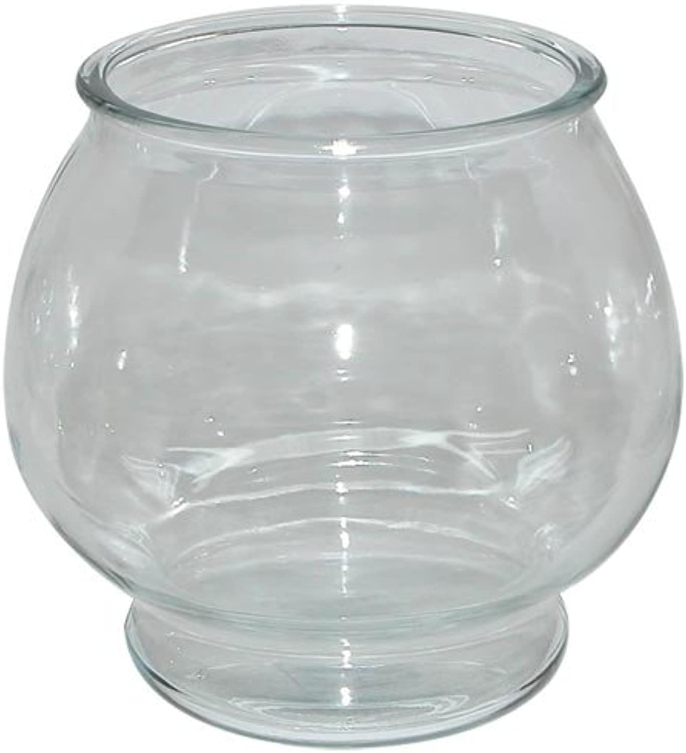 Anchor Hocking Footed Glass Round Fish Bowl Heavy Duty Crystal Clear 1Gallon