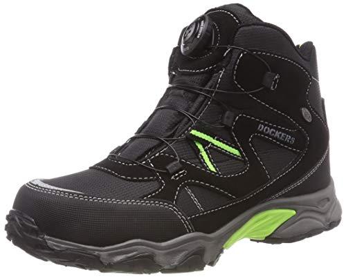 Dockers by Gerli Unisex-Kinder 43WR702 Hohe Sneaker, Schwarz (Schwarz 100), 34 EU