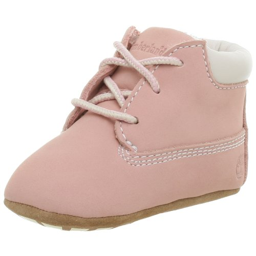 Timberland Crib Bootie and Hat (Infant/Toddler),Pink Nubuck,2 M US Infant