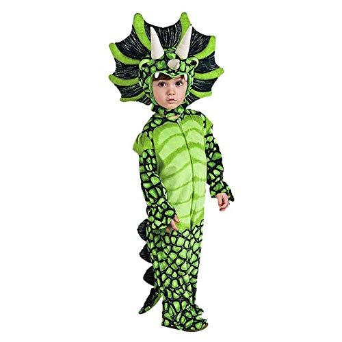 GBYAY Disfraz de Dinosaurio Niños Niños Pequeño Disfraz de Cosplay Mono Disfraces de Fiesta de Navidad de Halloween para niñas
