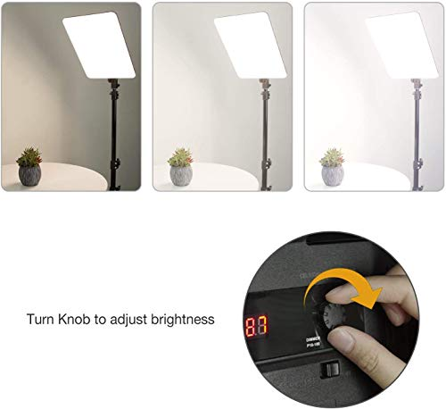 LimoStudio, AGG2812, LED Dimmable Dual-Color Temperature Photo Light Panel with Photo and Video Studio Light Stand Tripod, 2PACK