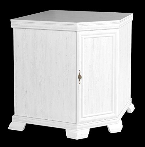 Furniture24 Eckkommode Kora KKN1 Kommode Eckschrank Schrank Wohnzimmerschrank mit 1 Tür (Andersen Kiefer)