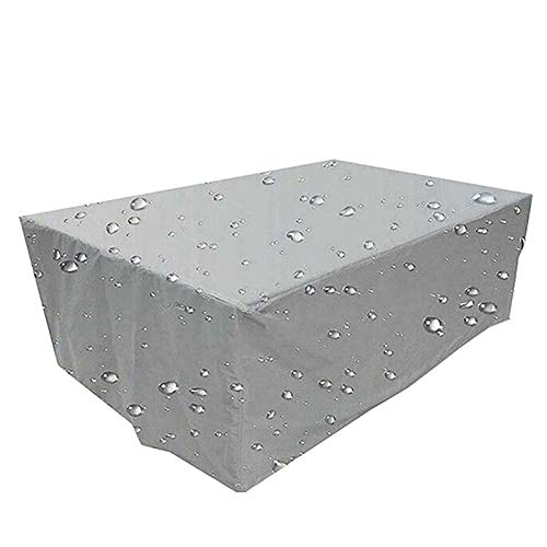 WZDD Cube Garden Furniture Cover 72x30x28inch, Patio Furniture Protective Cover, Waterproof Anti-UV Dustproof Outdoor Furniture Covers Set, Heavy Duty Rectangular Patio Table Cover