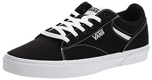 Vans Herren Seldan Sneaker, Schwarz ((Canvas) Black/White 187), 43 EU