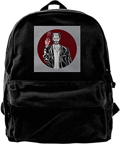 Homebe Canvas Backpack WOL-Verine Old Man Logan Rucksack Gym Hiking Laptop Shoulder Bag Daypack for Men Women