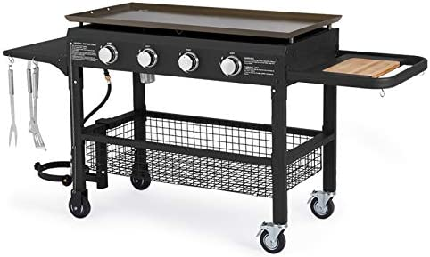U MAX 4 Burner Portable Propane Gas Grill 2 in 1 with steel gas griddle flat top 741sq Inch product image