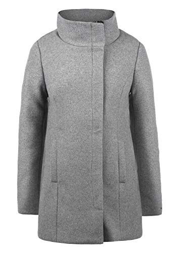 DESIRES Wolke Damen Winter Jacke Mantel Wollmantel Winterjacke mit Stehkragen, Größe:XXL, Farbe:Light Grey Melange (8242)