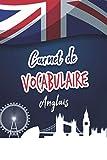 Carnet de vocabulaire anglais :: Carnet de 100 pages à remplir pour apprendre l'anglais - 2 colonnes par page - 15,24cm x 22,86cm