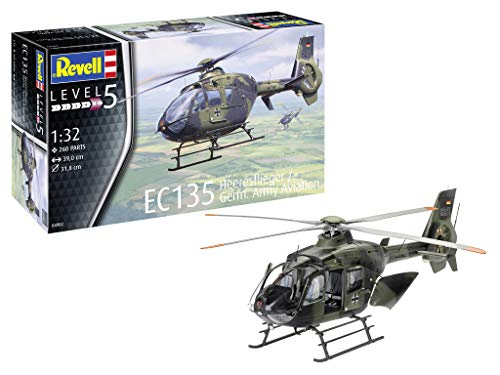 Revell RV04982 14 Modellbausatz EC135 Heeresflieger/Germ. Army im Maßstab 1:32, Level 5, Multicolour