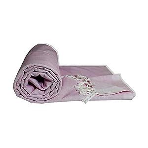 Riyashree Organic Cotton Silky Soft Bhagalpuri Dull chadar Throw for All Season Queen Size ( 53 * 96 in ) GrRiBDull 11