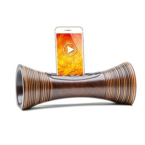 Altavoz natural para teléfono inteligente,AMPLIFICADOR de madera natural para teléfono,Altavoz sin ELECTRICIDAD,ECOLÓGICO