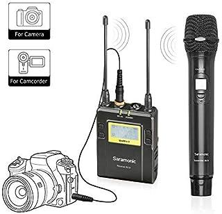 Saramonic Système de Microphone Portable (émission réception sans Fil) UWMIC9 UHF avec Micro à Main doté d'Un émetteur int...