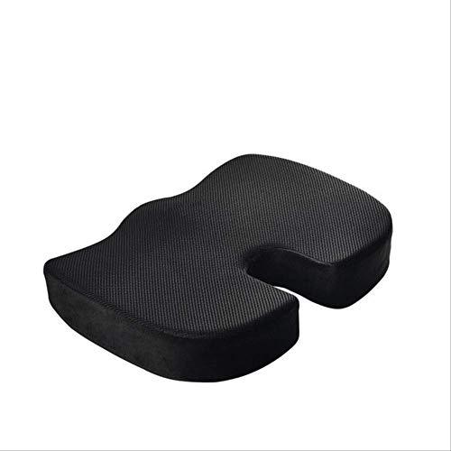 OLI Travel Memory Foam zitkussen U-vormig orthopedisch stuitbeenbescherming-stoelkussen ademende instelling massage zwangeres heupkussen 45 * 35 cm mesh zwart