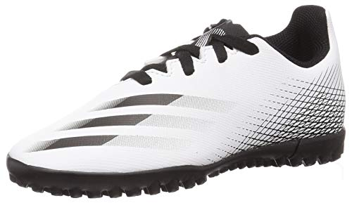 adidas X GHOSTED.4 TF J, Zapatillas de fútbol, FTWBLA/NEGBÁS/Plamet, 36 2/3 EU
