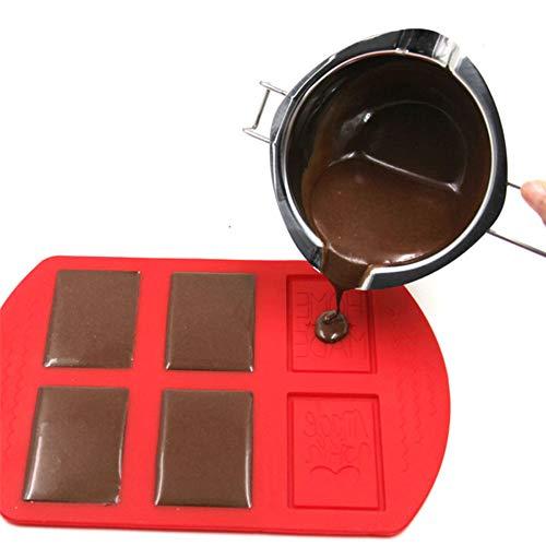 HUANGHUANG Wasserbad Schmelzschale Long Handle, Doppel Boiler Schmelztiegel Schmelztopf für Schokolade Zucker Butter Käse Karamell Kerzen, 304 Edelstahl