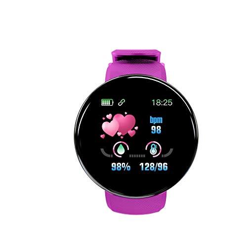 YUECI Herren Damen Smartwatch Schlafüberwachung Fitness Tracker Armband Fitness Armbanduhr Sportuhren Voller Touch Screen Wasserdicht Bluetooth Smart Watch mit Pulsuhr und Blutsauerstoffsättigung