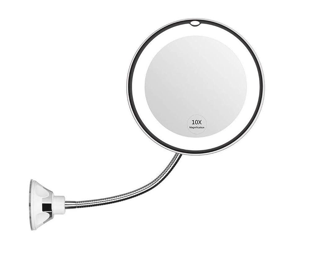 巡礼者タバコ空港10X拡大化粧鏡は、バスルームミラーを回転360度のラウンド吸盤化粧鏡とLEDライト