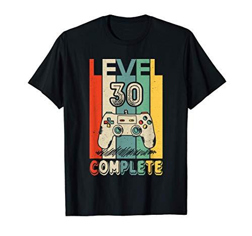 30 Anni Compleanno Uomo Donna Regalo Divertente Level 30 Maglietta