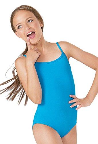 Fille Coton Mince Couleurs de Sangles Danse Ballet Shirts et Camisole Fille Tailles Sport (thinstrap Les Combinaisons Girl) ref: 3315 (EU40 (Medium), Bleu Ciel(Sky Blue))